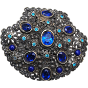 New England Glass Works Blue Dress Clip