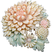 SALE Died Celluloid Chrysanthemum Dress Clip