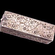 SALE 800 Silver Lipstick Holder with Mirror