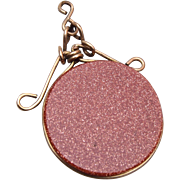 Gold Stone Watch Fob or Charm