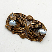 SALE Real Baby Tooth Pearl Brooch