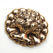10kt Gold Brooch Fruit Bowl - Light Weight