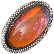 SALE Sterling and Dragon's Breath Brooch