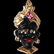 SALE Blackamoor Figural Brooch