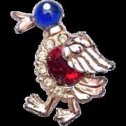 SALE Figural Walking Duck Brooch