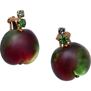 Austrian Glass Apple Earrings