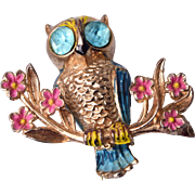1948 Coro Book Piece Owl Brooch