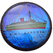 England Sterling Butterfly Wing RMS Caronia Passenger Ship Brooch