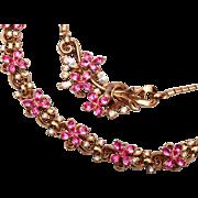 Trifari 1951 Patent Pending Bracelet and Necklace Set