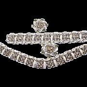 SALE Coro Black Diamond Rhinestone Necklace, Bracelet and Earring Set