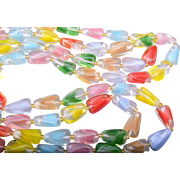 SALE Colorful Givre' Colored Glass Necklace