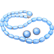 Pre 1955 Trifari Lucite Necklace and Earrings