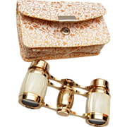SOLD Mother of Pearl Opera Glasses in Original Case
