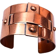 "Copper Cuff Bracelet 1-1/2"" Wide"