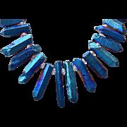 Healing Power Blue Titanium Quartz Necklace