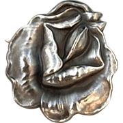 SOLD UNGER Brothers Sterling Silver Art Nouveau BROOCH Flower Signed Fine Hallmark c.1900's!