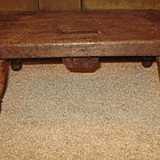 Early Splay Leg Foot Stool With Maple Legs