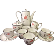 REDUCED Noritake Rosemarie Demitasse Tea Set - 13 Pieces