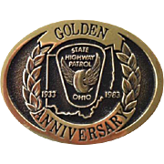 Ohio State Highway Patrol Golden Anniversary Belt Buckle