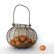 SOLD Enormous Vintage French Wire Egg Basket