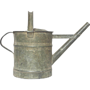 Petite French Zinc Water Pail - Watering Can