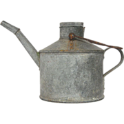 REDUCED Authentically Aged Finish  Zinc Vintage French Oil Pail