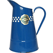 SOLD French JAPY Enamelware Pitcher - PRISTINE Condition