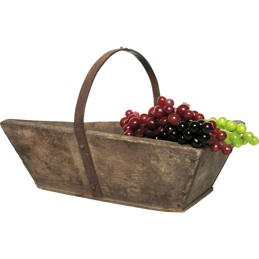 French Wooden Garden Trug Harvest Basket