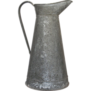REDUCED Antique Zinc French XL Pitcher