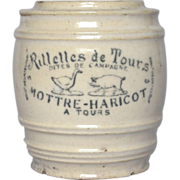 SOLD RESERVED : Early French Stoneware RIllettes Crock