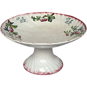 French Longwy Porcelain Raised Dish - Compotier