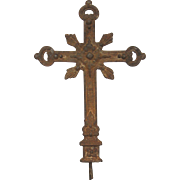 SOLD French Antique Cast Iron Cross