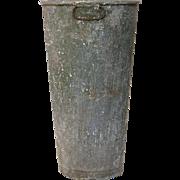 Aged French Zinc Florist Bucket / Vase