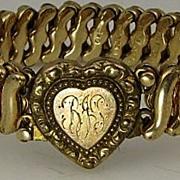 1930's Sweetheart Love Token Carmen HEART Bracelet