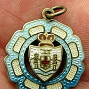 EARLY Amazing Vintage Sterling Enamel Jamaica / Jamaican Charm Stunning Colors!