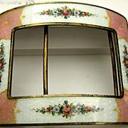 Large Gorgeous Antique Austrian Enamel Buckle 800 - Sterling Signed Art Nouveau