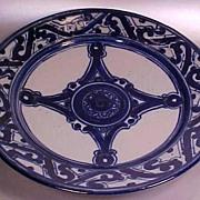 1970's Terracotta Art Pottery Platter
