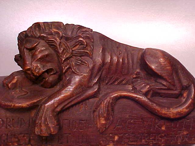 Black Forest Style Wood Carving - Lion of Lucerne