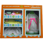 SOLD 1969 IDEAL Toddler THUMBELINA Wardrobe Layette Mint in Box