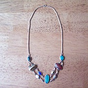 Egyptian Carved Scarab Necklace