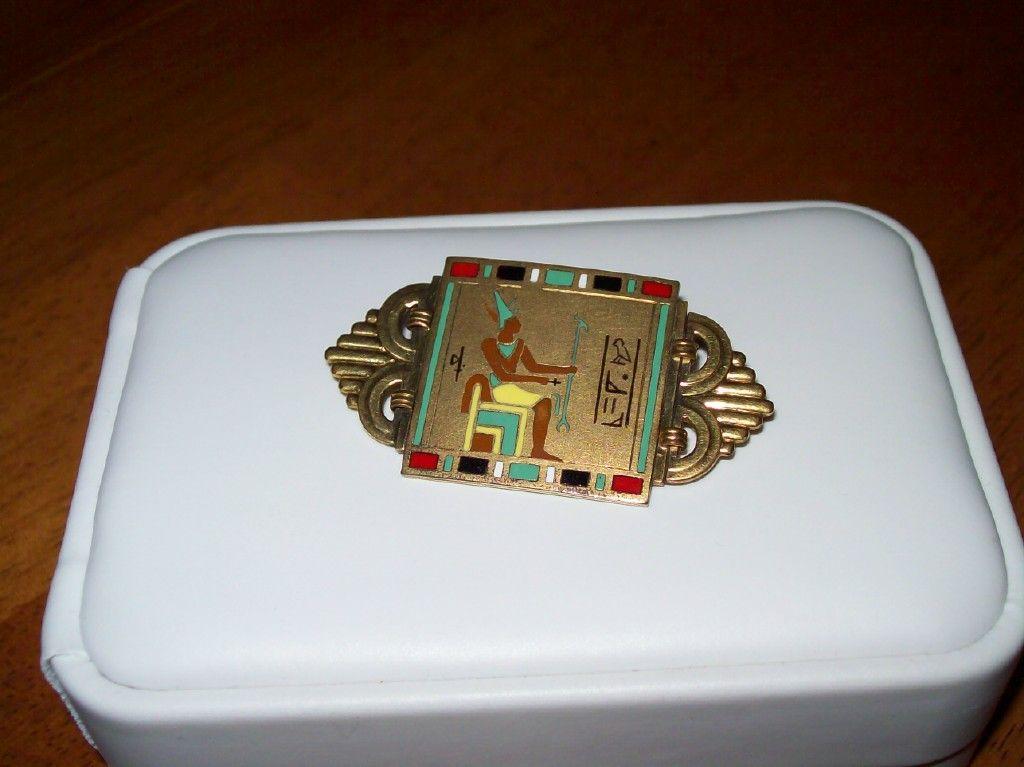 Egyptian Revival Period Enamel Pin