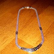 Greek Key Sterling Silver Necklace