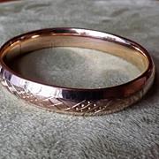 Gold Filled Vintage Carved Bangle