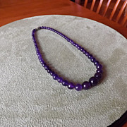 Natural Amethyst Beaded Necklace