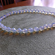 SOLD Natural Sri Lanka Faceted Moonstone Necklace
