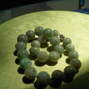 SOLD Old NATURAL Burma Jadite Beaded Necklace - 1075 Carats!