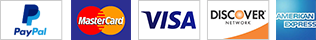 Make payments with Paypal using Visa, Mastercard, Discover, AMEX