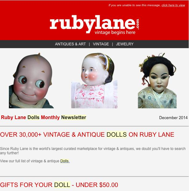 Ruby Lane Dolls Newsletter Launched