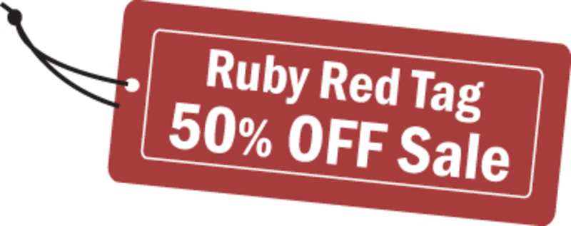 Ruby Red Tag 50% Off Sale Launches