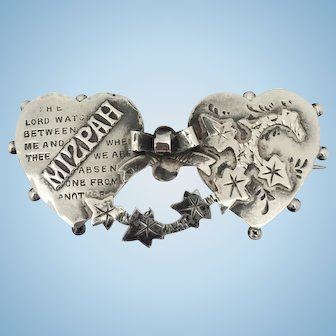 1st World War English silver sweetheart Mizpah brooch